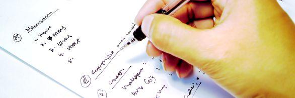 escribiendo apaisado